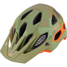 Rudy Project Protera Casco, green camo/orange